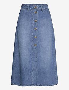 BUTTON THROUGH LONG - midi skirts - mid wick