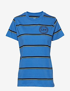 STRIPE T - t-shirts - city blue