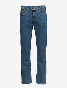 BROOKLYN STRAIGHT - relaxed jeans - mid stonewash