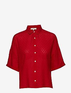 CROPPED SHIRT - BRIGHT RED