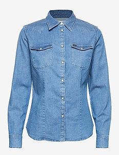 SLIM WESTERN - langermede skjorter - blueprint