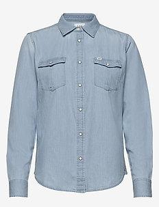 REGULAR WESTERN SHIR - langermede skjorter - summer blue