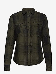 REGULAR WESTERN SHIR - langermede skjorter - serpico green