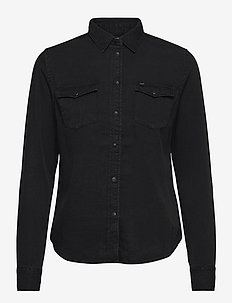 REGULAR WESTERN SHIR - jeansblouses - black