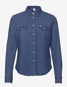 REGULAR WESTERN SHIR - denim shirts - piscine