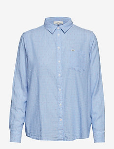 ONE POCKET SHIRT - jeansowe koszule - heather blue