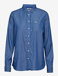 ONE POCKET SHIRT - jeansblouses - dipped blue