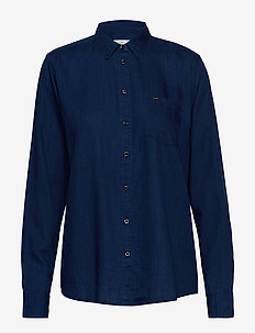 ONE POCKET SHIRT - long-sleeved shirts - oil blue