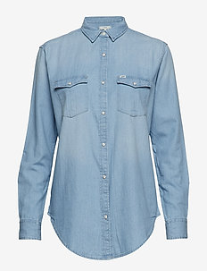 REGULAR WESTERN - denim shirts - heather blue