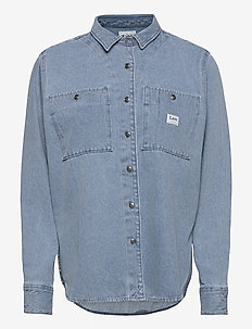WORKER SHIRT - chemises en jeans - faded blue