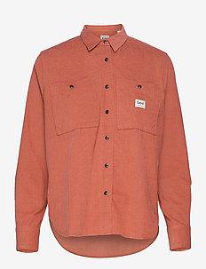 WORKER SHIRT - denim shirts - burnt ocra