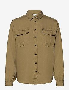 BOX PLEAT SHIRT - long-sleeved shirts - safari