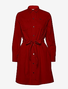 SHIRT DRESS - WARP RED