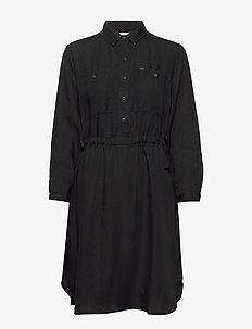 WORKER DRAPEY DRESS - BLACK