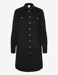WORKSHIRT DRESS - skjortekjoler - black