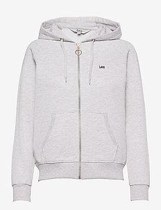 ZIP THROUGH HOODIE - hoodies - sharp grey mele