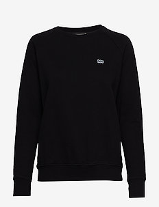 PLAIN CREW NECK SWS - sweatshirts - black