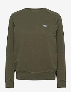 PLAIN CREW NECK SWS - sweatshirts - olive green