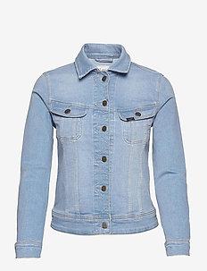 SLIM RIDER - denim jackets - bleached azur