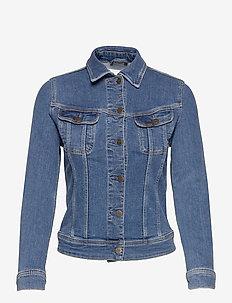 SLIM RIDER - jeansjackor - mid worn martha