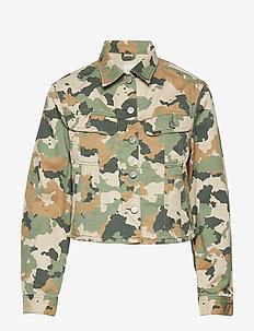 CROPPED RIDER JACKET - vestes en jean - camouflage