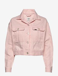 CROPPED JACKET - jeansjakker - crystal pink