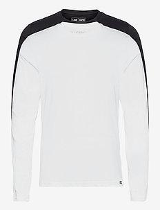 TWIN PACK CREW LS - basic t-shirts - black white