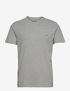 SS PATCH LOGO TEE - basic t-shirts - grey mele