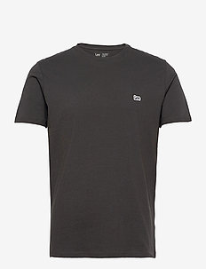 SS PATCH LOGO TEE - basic t-shirts - washed black