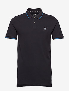 PIQUE POLO - short-sleeved polos - black