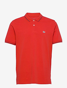 PIQUE POLO - short-sleeved polos - washed red