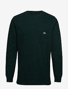 AUTHENTIC PKT T LS - basic t-shirts - dk bottle green