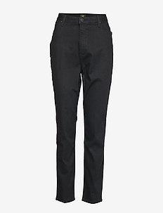 SCARLETT HIGH - broeken med straight ben - black rinse
