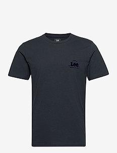SS TONAL FLOCK LOGO - basis-t-skjorter - sky captain