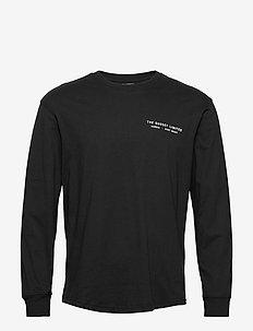 LS GRAPHIC CREW - printed t-shirts - black