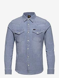 LEE WESTERN SHIRT - denim shirts - skyway blue