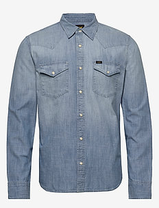 LEE WESTERN SHIRT - basic shirts - faded blue