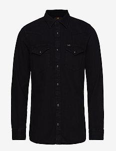LEE WESTERN SHIRT - casual-paidat - black