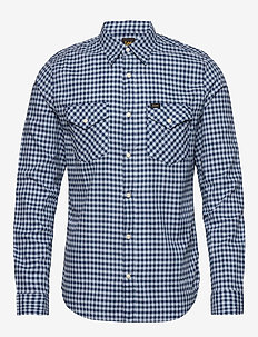 CLEAN WESTERN SHIRT - WASHED BLUE