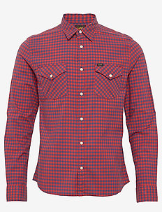 CLEAN WESTERN SHIRT - POPPY RED