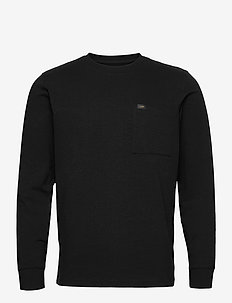 LS POCKET TEE - basic t-shirts - black