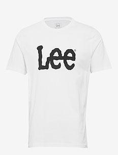 WOBBLY LOGO TEE - short-sleeved t-shirts - white