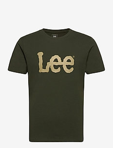 WOOBLY LOGO TEE - kortermede t-skjorter - serpico green
