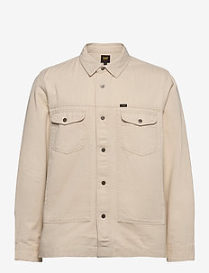 MILITARY WORKER SHIR - tops - bleached sand