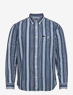 RIVETED SHIRT - casual shirts - indigo