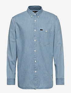 RIVETED SHIRT - HEATHER BLUE
