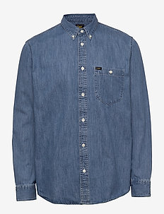 RIVETED SHIRT - basic shirts - washed blue