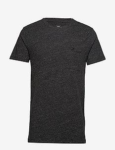 ULTIMATE POCKET TEE - basic t-shirts - dark grey mele