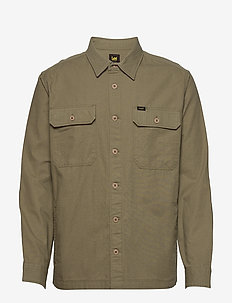 2 PKT OVERSHIRT - basic shirts - utility green