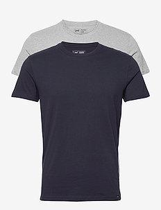 TWIN PACK CREW - basic t-shirts - greymele navy